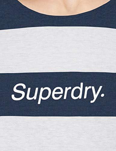 Superdry damska koszulka z logo Stripe Foil Portland Tee: Odzież