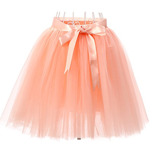 Facent Femmes 50cm 7 Couches Tutu Tulle Jupons Pche