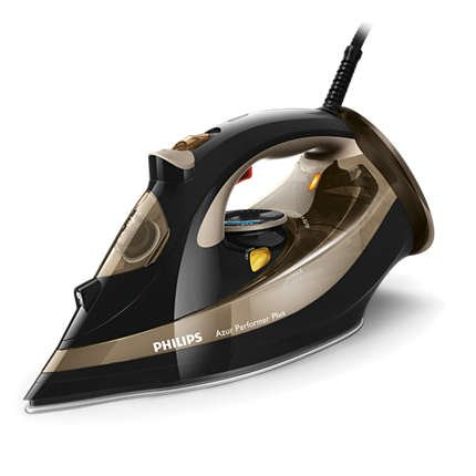 Philips Azur Performer Plus Steam iron GC4527, Steam / Steam boost, T-ionicGlide soleplate, Safety Auto off + Anti-calc 1100 Watts