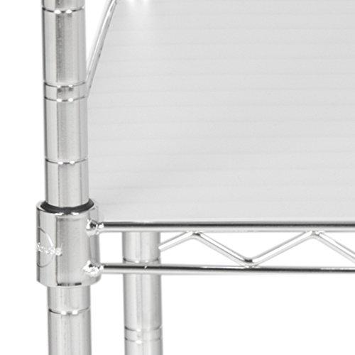 happimess Hope 31.5'' 4-Tier Adjustable Baker's Rack, Chrome by happimess (Image #4)