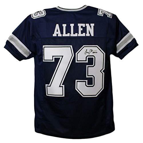 Larry Allen Autographed/Signed Dallas Cowboys Blue XL Jersey HOF ()