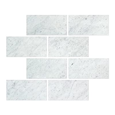 Carrara Marble Italian White Bianco Carrera 3x6 Marble Subway Tile Honed from Natural Stone Wholesaler