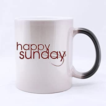 funny quotes mug happy sunday ceramic morphing mug cup coffee