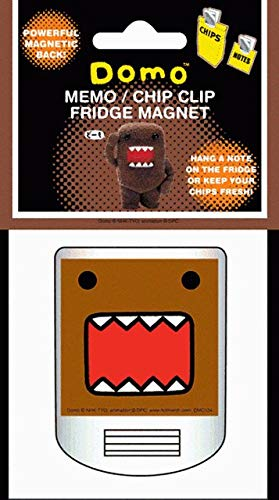 - Hot Properties Domo-Kun Face Magnetic Memo and Chip Clip DMC104