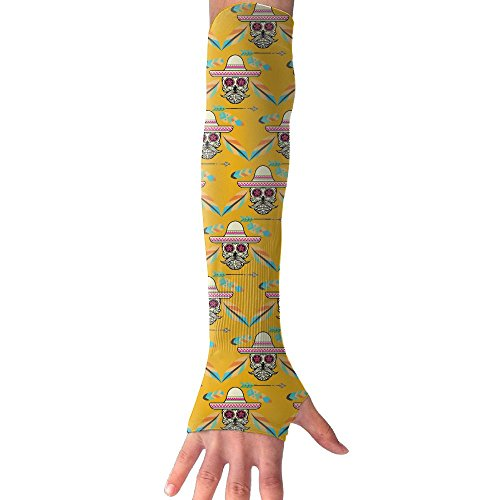 West Cowboy Skull Compression Sports Arm Sleeve UV Protection For Golf Weight Training Basketball Cycling Pain Injury - West University Shopping