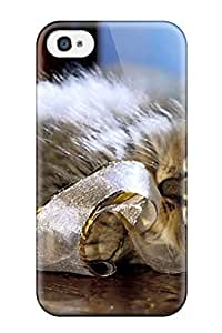 Excellent Iphone 4/4s Case Tpu Cover Back Skin Protector Kitten Animal