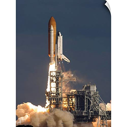 CANVAS ON DEMAND Space Shuttle Atlantis Clears The Tower at The Kennedy Space Center, Florida Wall Peel Art Prin.