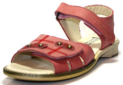 Juge 46 1330 les chaussures pour enfants, sandales pour fille salmon cerise, eU/39