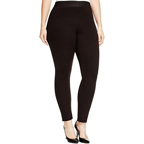 Karen Kane Womens Plus Twill Comfort Waist Leggings Black 2X