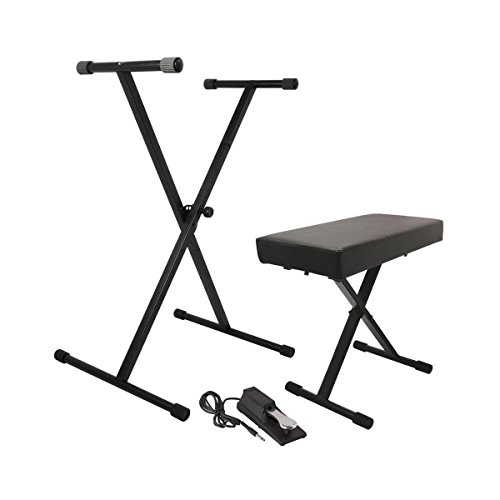 On-Stage KPK6550 Keyboard Stand/Bench Pak with KSP100 Sustain Pedal by OnStage