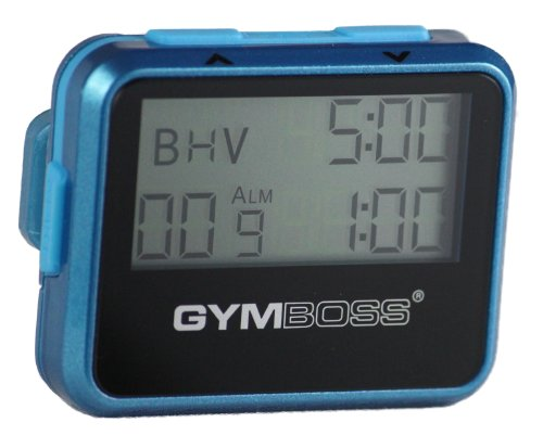 Gymboss Interval Timer and Stopwatch - Teal/Blue Metallic Gloss (Run Walk Interval Timer)