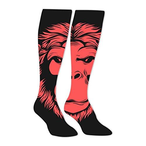 Knee High Stockings Monkey Face Long Socks