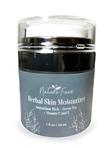 Organic Gluten-Free Facial Moisturizer by NatureFace | Non-Comedogenic Moisturizer for Dry Skin, Oily Skin, Sensitive Skin | Rosacea Treatment, Eczema, Psoriasis, Dermatitis, Skin Rash, Skin Redness