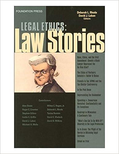 Legal ethics stories law stories kindle edition by deborah rhode legal ethics stories law stories 1st edition kindle edition fandeluxe Images