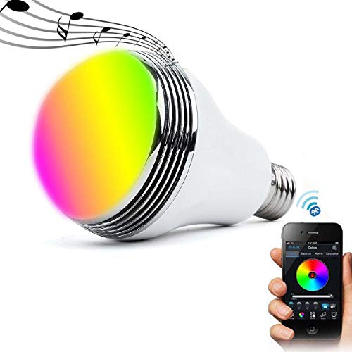 Smart Bulb with Bluetooth Speaker RGBW Color Changing LED...