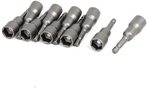 uxcell 六角ドライバービット レンチ ナットセッター ビット 幅13mm 10個入