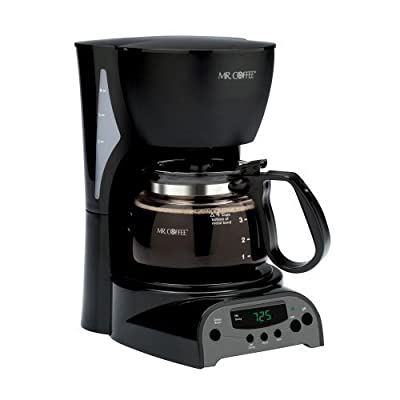 Black Coffee 4-cup Programmable Coffee Maker by AytraHome