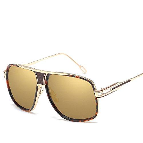 Moda Redonda Caja Gafas GUO Sol de K Cara Grande de de E Sol Gafas Elegante fqITwwzY