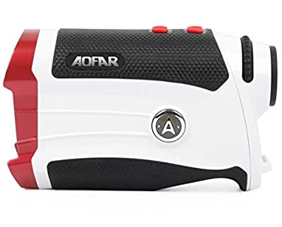 AOFAR GX-2s Slope Golf Rangefinder,600 Yards White Range Finder,Flagpole Lock, Vibration, 6X 25mm Waterproof, Carrying Case, Battery, Gift Packaging by AOFAR