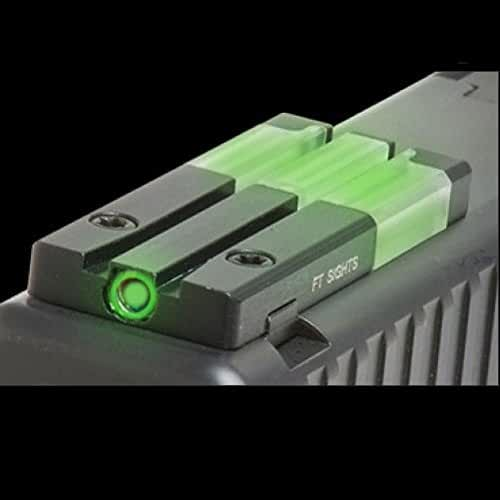 Meprolight Fiber-Tritium Illuminated Bullseye Circle-Dot Rear Sight, Green, for Smith and Wesson S&W Handguns