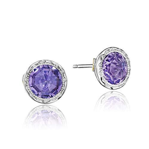 Tacori Amethyst Earrings - Tacori SE24101 Sterling Silver Lilac Blossoms Petite Bezel Amethyst Stud Earrings