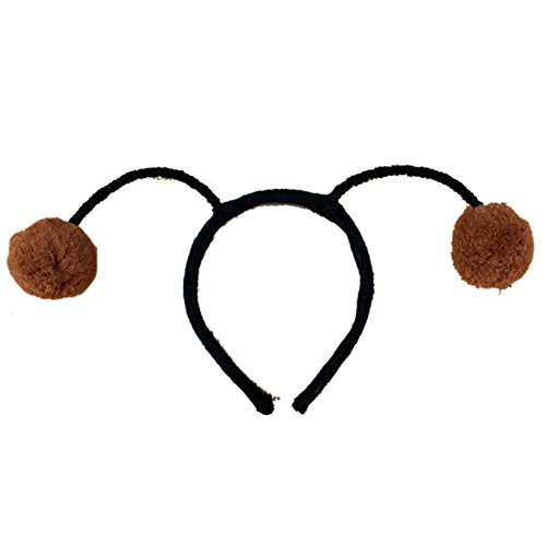 tylish Cosplay Antenna Headwear Ball Ladybug Fly Bee Ant Headband Brown (Brown Ladybug)