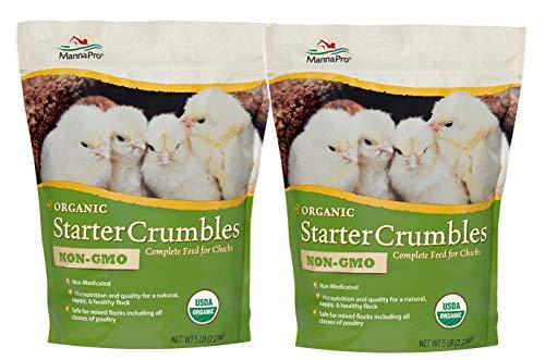 Manna Pro Chick Organic, 5 Pounds (Pack of 2) (Organic Chick Starter Feed)