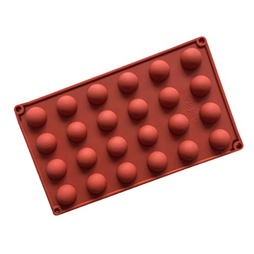 YUNIAO Half Ball Sphere Silicone Cake Mold, Muffin Chocolate Cookie Baking Mould Decor,Non Stick Silicone Chocolate Mold,Reusable, Healthy ()