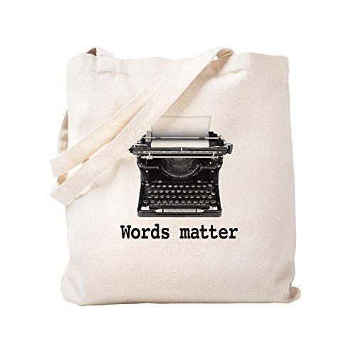 CafePress Words Matter Natural Canvas Tote Bag, Cloth Shopping Bag