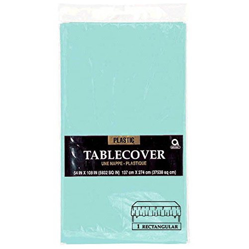 Robin Egg Blue Teal Plastic Table Cover 108 x 54 In (Group Theme Ideas)