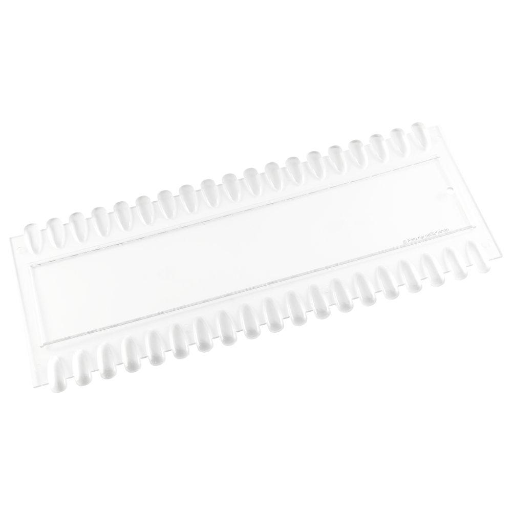 Präsentationsdisplay Farbpalette transparent-klar mit 38 Tips Nägeln für Nagellack, Gel, Nailart und Airbrush NAILFUN ®