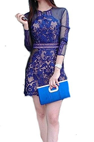 celebritystyle-blue-lace-and-mesh-dress-xs