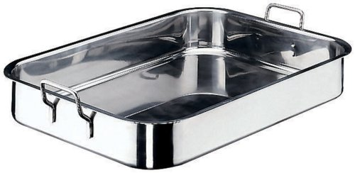 Paderno World Cuisine 17 3/4 Inch x 11 7/8 Inch Stainless Steel Roasting Pan by Paderno World Cuisine