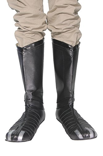 [Hot Movie Black Panther Boots High Quality Black PU Cosplay Shoes for Sale I] (High Quality Costumes For Sale)