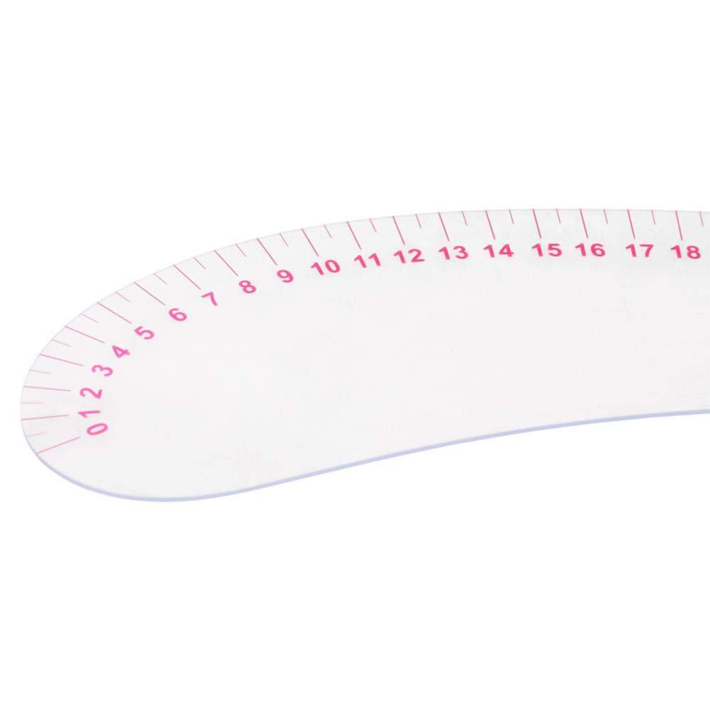 Plastic L-Square Shape Ruler Curve Sewing Measure