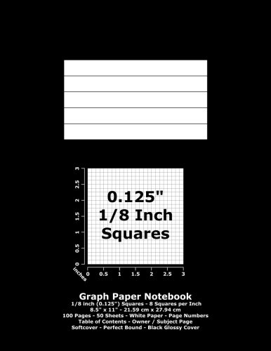 Graph Paper Notebook: 0.125 Inch (1/8