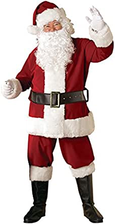 Rubie's Regal Crimson Santa Suit With Gloves, Red/White, X-Large