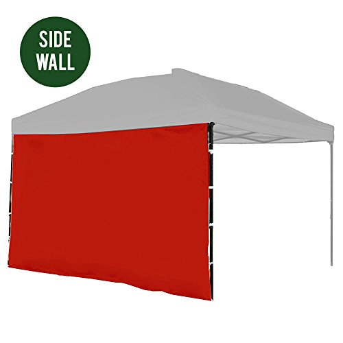Punchau Canopy Side Wall - Red Sidewall for 10x10 Feet Pop Up Canopy Tent