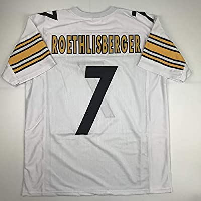 finest selection 22f73 0fcf1 Amazon.com: Unsigned Ben Roethlisberger Pittsburgh White ...