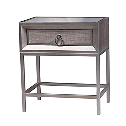 Amazon.com: Nightstands/ Bedroom Furniture Modern Style Goldtone ...