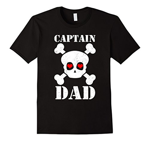 Pirate Customes (Mens Captain Dad Funny Pirate Halloween Costume T Shirt 3XL Black)