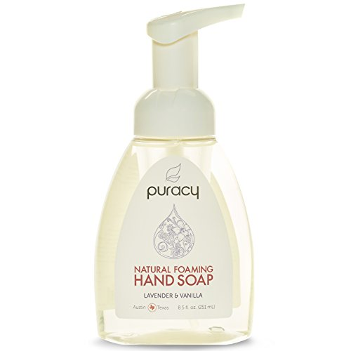 Puracy Natural Foaming Hand Soap - Sulfate-Free - Lavender & Vanilla  The BEST Natural Foam Hand Wash  Plant-Based  Non-Toxic - 8.5 Fl Oz