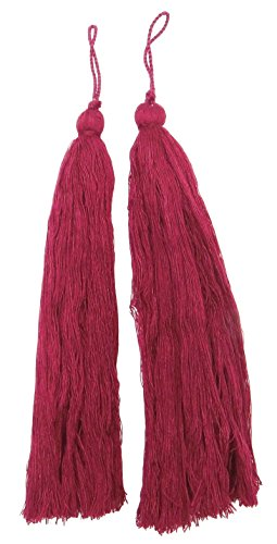 - Knitwit Decorative Salwar Kameez Thread Crafting Latkans Pink Tassels Supply 12 Pieces