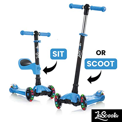 Scooter for Kids Scooters 3 Wheeled Scooter 3 Wheel Scooter for Kids Ages 2-12 (Blue)]()