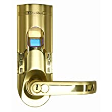 iTouchless Bio-Matic Fingerprint Door Lock, Right Handle, Gold