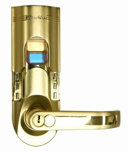 Beau ITouchless Bio Matic Fingerprint Door Lock, Right Handle, Gold