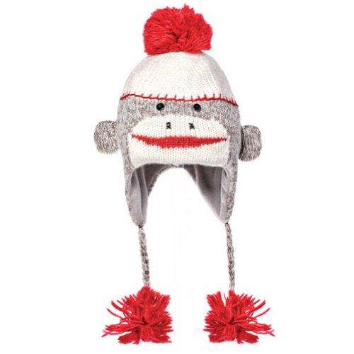 Cute Sock Monkey Pilot Hat - Youth