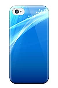 Cute Tpu DPatrick Blue Background Abstract Case Cover For Iphone 4/4s