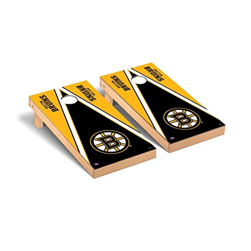Victory Tailgate Boston Bruins NHL Regulation Cornhole Game Set Triangle Version