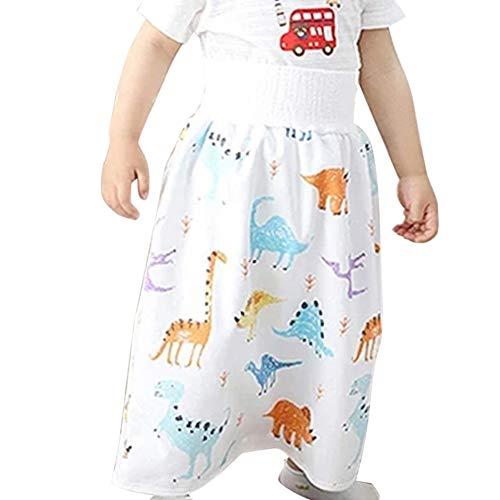 CFeng Kinderluierrok, 2-in-1 waterdicht, absorberende shorts, comfortabele peuterbaby meisjes, kanten shorts voor baby…